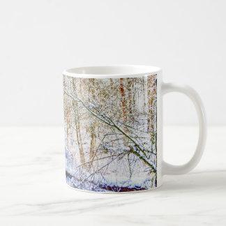 Snowy Woodland Path Coffee Mug