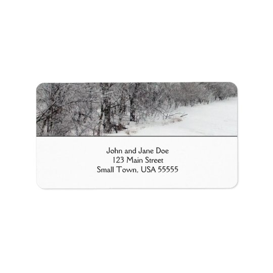 Snowy Woods Address Labels