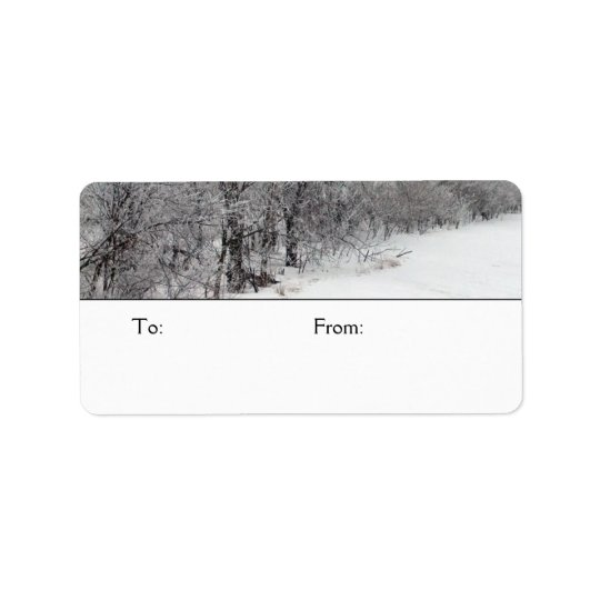 Snowy Woods Medium Gift Tags