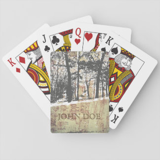 Snowy Woodsman Playing Cards