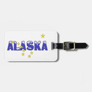 SNOWY WORD ALASKA LUGGAGE TAG