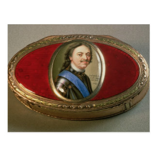 Snuff box with portrait miniature of Peter Postcard