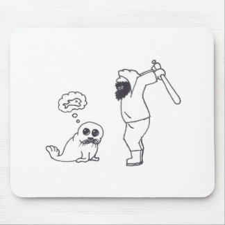 Snuffles the Baby Seal mouse pad - Man vs Seal