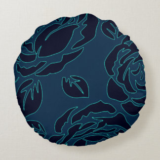 Snuggle_Accents-Night-Garden-Rose's_Decor Round Cushion