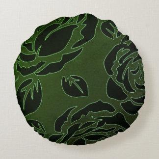 Snuggle_Accents-Retro-Rose's-DeCo-Green_Home-Decor Round Cushion