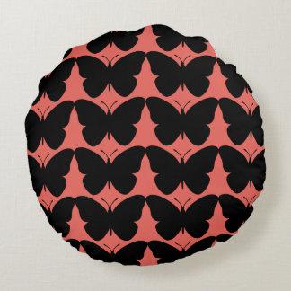 Snuggle_Accents-Salmon-Black_Children-Adult Round Cushion