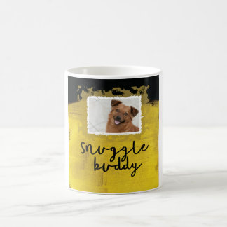 Snuggle Buddy Custom Black/Yellow Dog Photo Mug