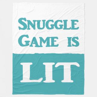 Snuggle Game is LIT Blanket