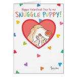 SNUGGLE PUPPY Valentines by Boynton Greeting Card
