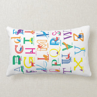 Snuggle the Alphabet with Bright Colours Lumbar Cushion