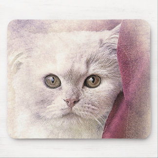 Snuggle Time Kitty | Abstract | Watercolor Mouse Pad