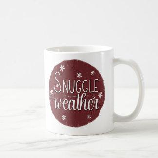 """Snuggle Weather"", Hand Lettered Winter Mug"