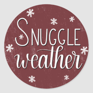 """""""Snuggle Weather"""", Hand Lettered Winter Stickers"""