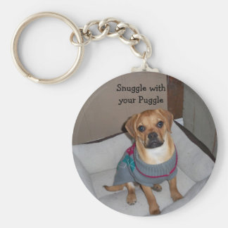 Snuggle with your Puggle Keychain