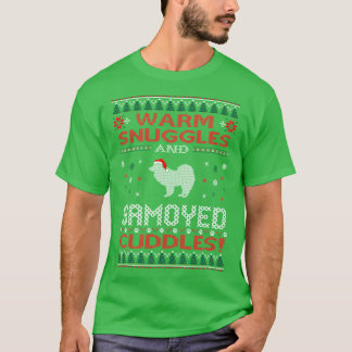 Snuggles Samoyed Cuddles Christmas Ugly Sweater
