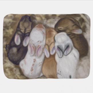 Snuggly Baby Bunnies Baby Blanket