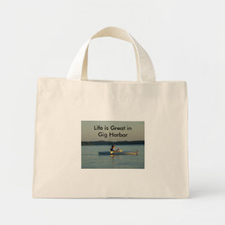 SNV10572, Life is Great in Gig Harbor Mini Tote Bag