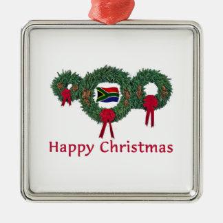 So. Africa Christmas 2 Metal Ornament
