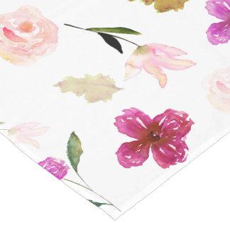 So Beautiful Watercolor Floral Short Table Runner