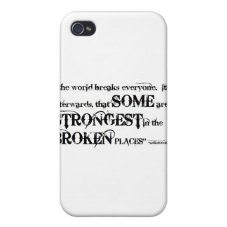 So Beautifully Broken Broken Places Quote iPhone 4/4S Cases