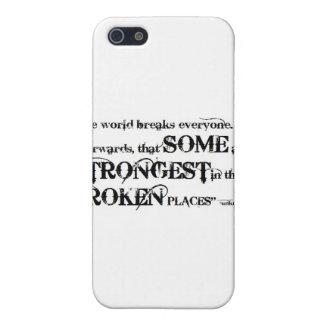 So Beautifully Broken Broken Places Quote iPhone 5 Case