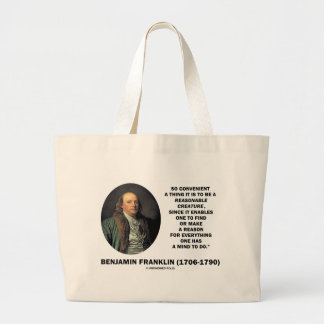 So Convenient It Is To Be A Reasonable Creature Jumbo Tote Bag