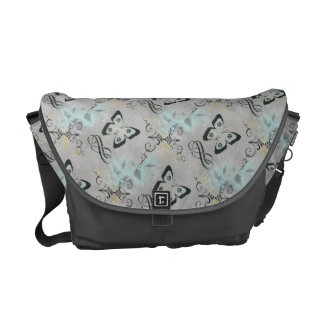 So Cool Butterfly Graphic Art Messenger Bag