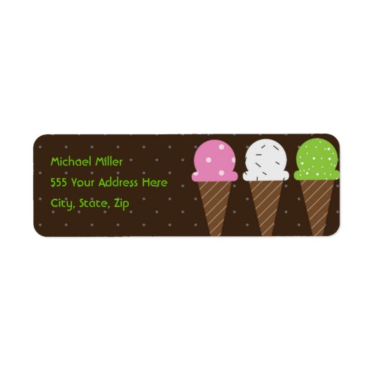 So Cool Ice Cream Return Address Label