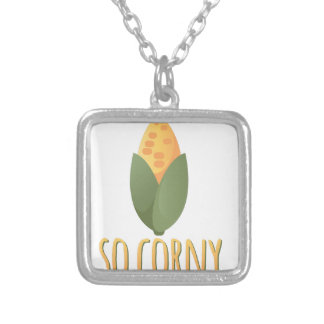 So Corny Silver Plated Necklace