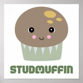 so cute kawaii stud muffin print