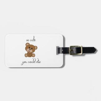 So Cute Teddy Luggage Tag
