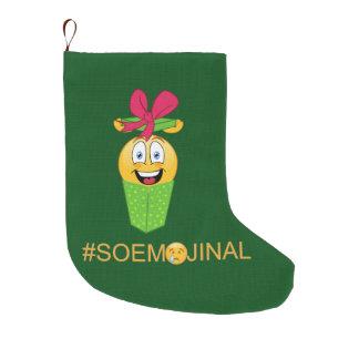 So Emotional Emoji Christmas Stocking