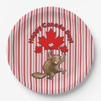 So Excited Canada Day Party Paper Plates