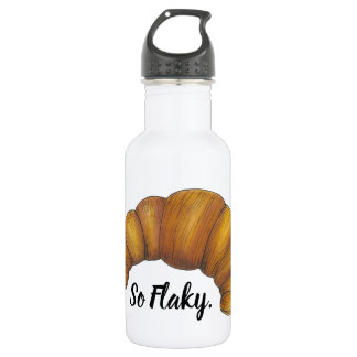 So Flaky Buttery Croissant French Pastry Foodie 532 Ml Water Bottle