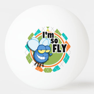 So Fly!  Colorful Argyle Pattern Ping Pong Ball