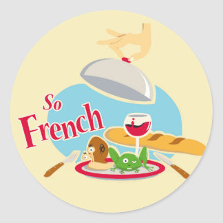 So French Classic Round Sticker