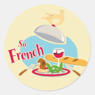 So French Round Sticker