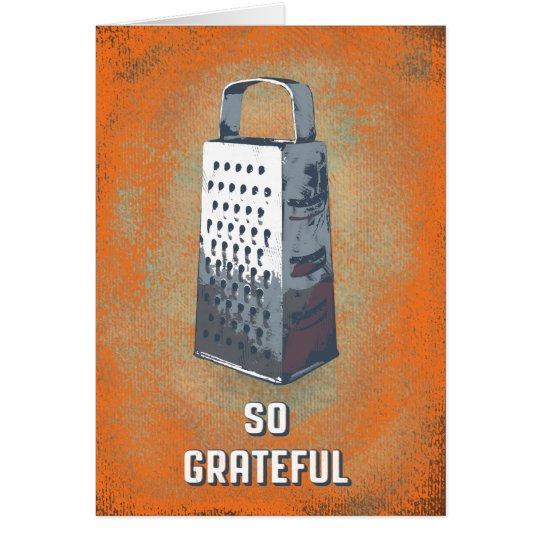 """SO GRATEFUL"" thank you card"