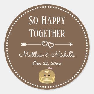 So Happy Together Whimsical Elegant Sweet Wedding Classic Round Sticker