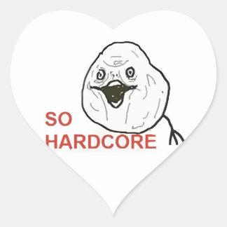 So Hardcore Heart Stickers