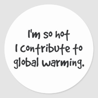 so hot I contribute to global warming Stickers