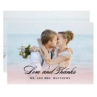 So in Love | Wedding Thank You Photo Card