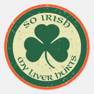 So Irish My Liver Hurts Pub Stickers