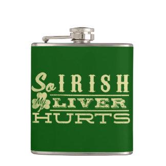 So Irish My Liver Hurts Shirt Hip Flask