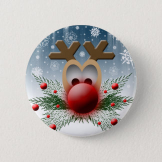 So It Glows Reindeer Xmas Holiday Christmas 6 Cm Round Badge
