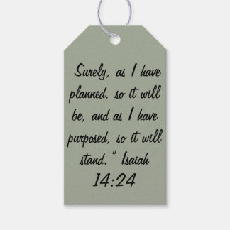 """""""So it will Stand"""" Scripture Gift Tags"""