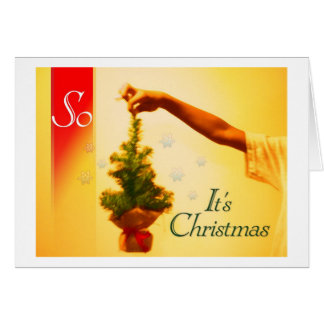 so it's Christmas Greeting Card