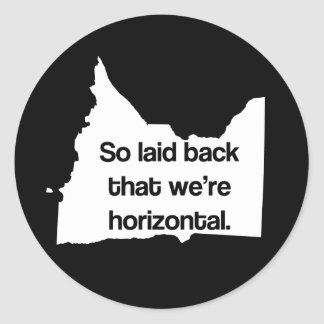 So Laid Back We're Horizontal MN Funny Stickers