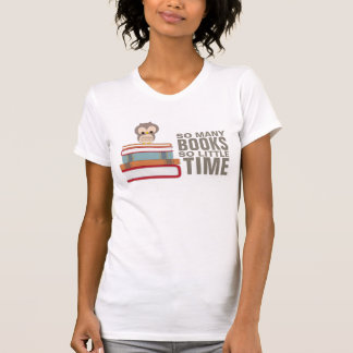 So Many Books So Little Time Cute Owl Book Nerd T-Shirt