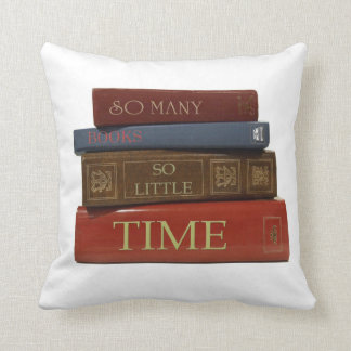 So Many Books So Little Time reader comfy  pillow